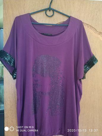 Блузка футболка женская р. 58