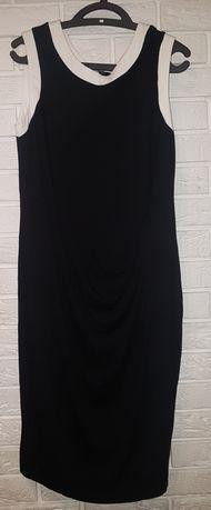 Bawełniana, czarno - biała sukienka. Rozmiar 46.