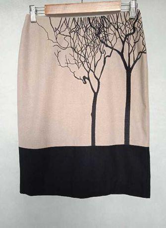 Spódnica damska, wełniana, haft, Solar, r. 34-36