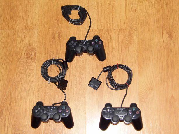 Oryginalny przewodowy pad firmy Sony na konsole PlayStation 2