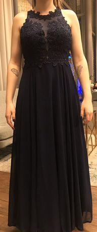 Granatowa sukienka studniówkowa,rozmiar M/L