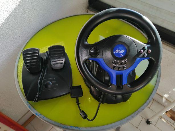 Vendo volante com pedal para jogos, negociável
