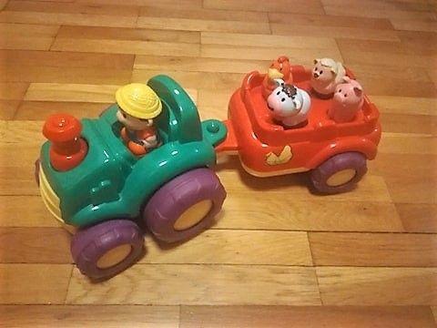 Smiki muzyczny traktor zabawka interaktywna