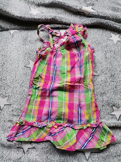 Sukienka tunika Polo Ralph Lauren r. 92 2 latka cudo