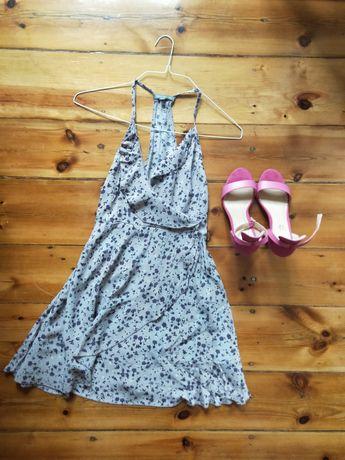 Conjunto vestido e sandales fuschia