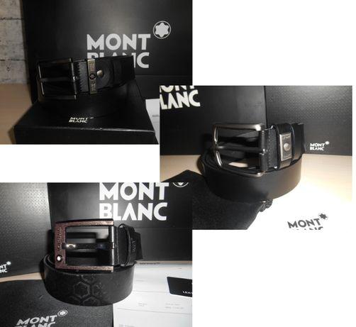 Мужской Ремень пояс Mont Blanc, кожа, Италия, Оригинал 3 модели
