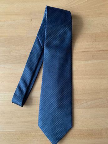 галстук мужской синий шёлк Gucci
