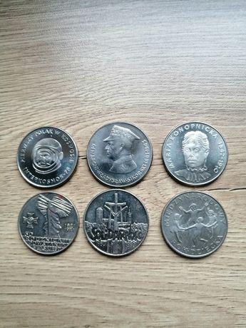Monety z lat 70 - 90 u.w. Zestawy po 6 szt. w dowolnym zestawieniu.