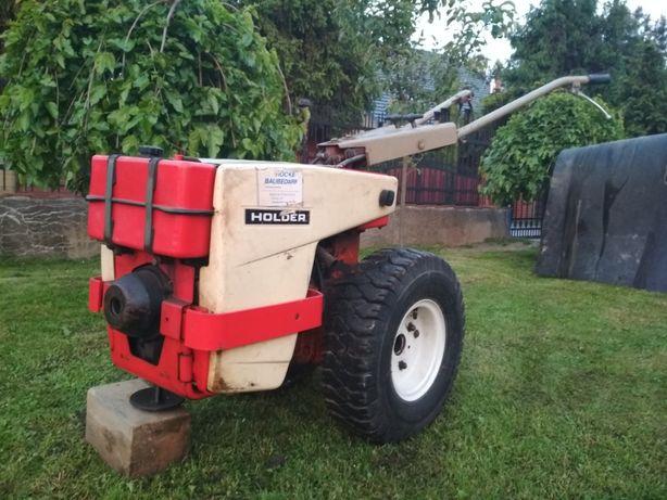 Ciągniczek jednoosiowy, traktorek HOLDER + glebogryzarka + przyczepa