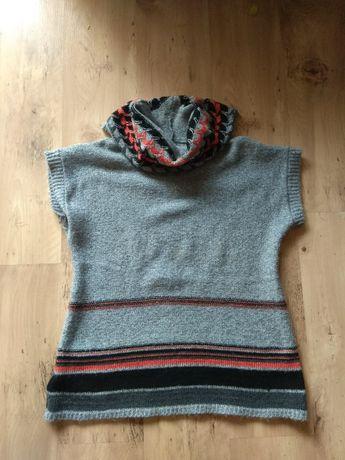 Sweter bezrękawnik półgolf