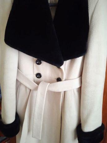 Зима Stella Polare Зимнее женское кашемировое пальто .