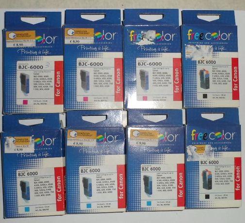 Цветные и черные картриджи для Canon BJC 3000, 6000 и др.