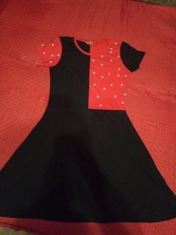 платье сарафан 44р с бусинами 42р