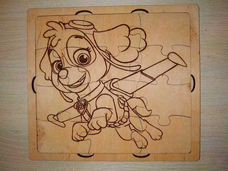 Пазлы детские деревянные дитячі пазли 12 шт  щенячий патруль