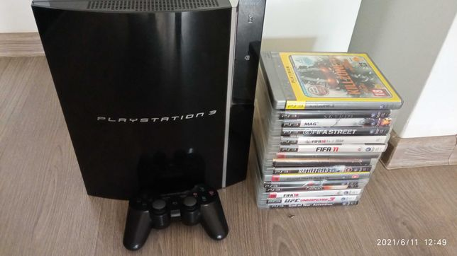 PS3 + 14 gier + pad