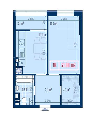 Просторная 1- комнатная квартира в ЖК «Центральный»