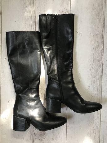 Сапоги осенние кожаные Италия