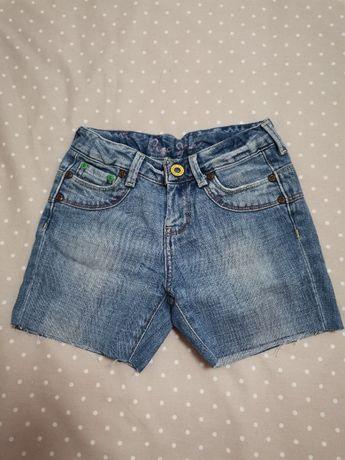 calções de ganga desfiados, da Pepe Jeans, TAM 8