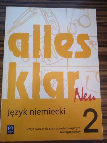 alles klar neu 2, zeszyt ćwiczeń z niemieckiego