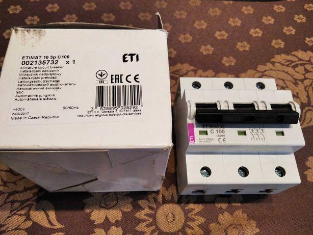 Wyłącznik nadprądowy ETIMAT 10 3p C100