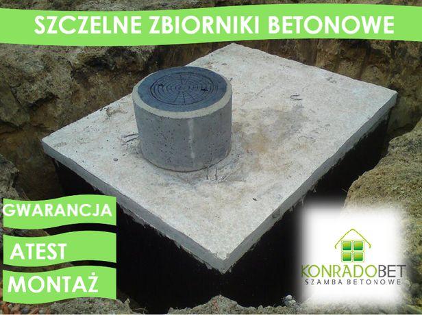 Zbiornik betonowe na szambo, szamba betonowe szczelne, montaż, atest