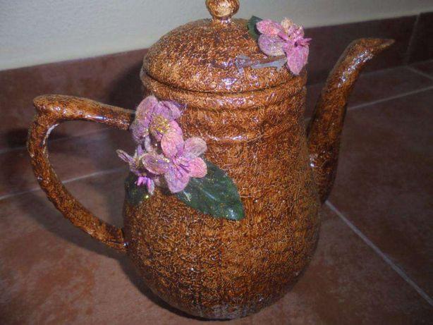 Bule faiança portuguesa - pintado à mão