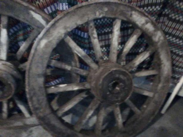 Par de rodas carros de bois - antigas
