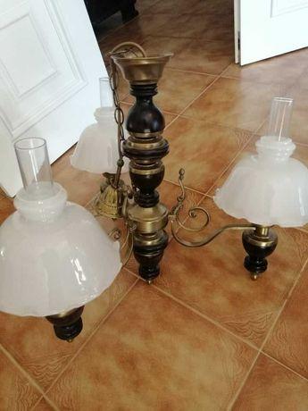 Candeeiro de quarto + 2 candeeiros de mesa de cabeceira