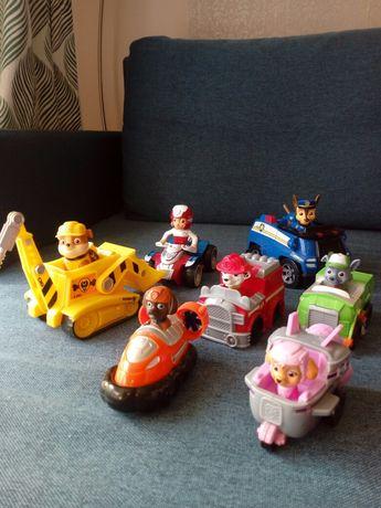 Psi patrol zestaw figurki Chasse, Rubble, Marshall Zuma Sky Rydel