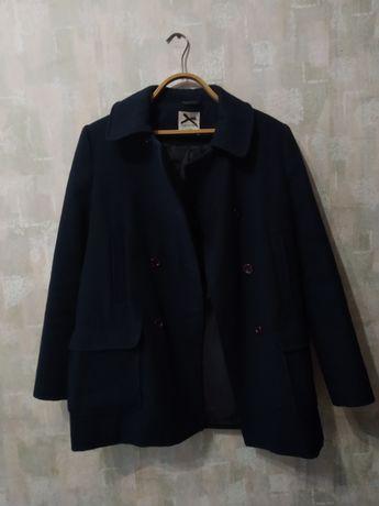 Пальто-пиджак тёмно-синего цвета(700р.)