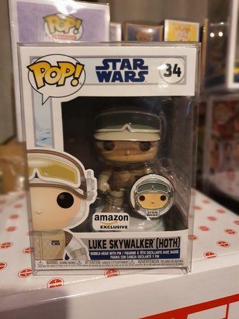 Figurka Funko Pop Star Wars Luke Skywalker With Pin Hoth Amazon Exc