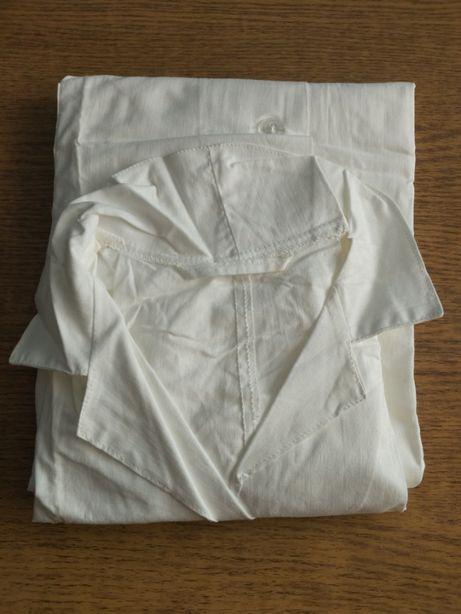 Новий халат ХБ білий/синій (спецодяг).