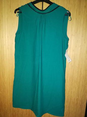 Sukienka butelkowa zieleń kokarda