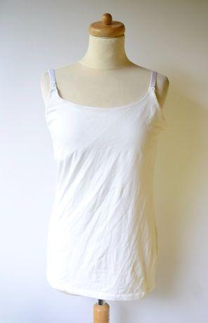Bluzka Koszulka Biała Do Karmienia L 40 Mama Mum Mom H&M Boob Mother