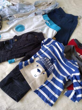 Zestaw ubrań dla chłopca paka ubranek paczka spodnie sztruksowe kurtka
