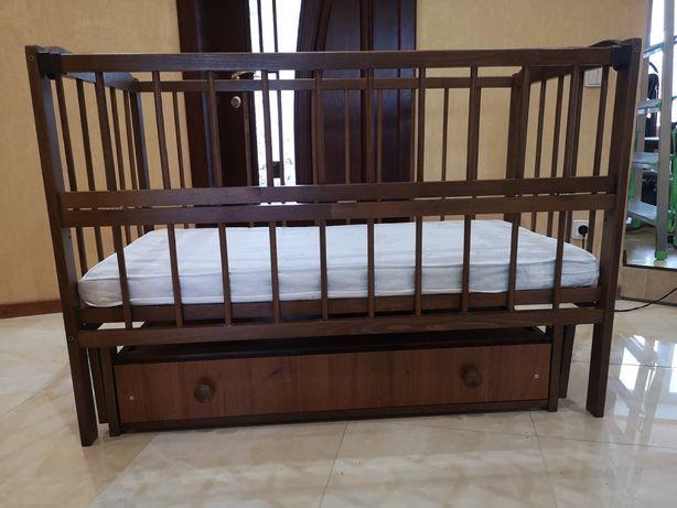 Детская кроватка + ПОДАРОК! Матрас , постельное, балдахин