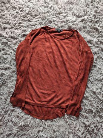 Atmosphere bluzka koszulka bordowa brązowa paski klasyczna 38/M