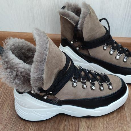 Ботинки зимние Prego, натуральный замш, 37 размер