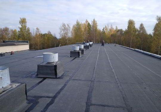 Ремонт крыши балконов, мягкая кровля, еврорубироид Гаражи Балконы