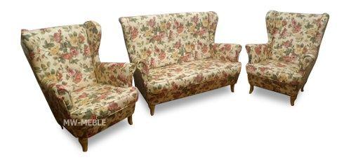 Zestaw pokojowy Uszak - sofa + 2 fotele
