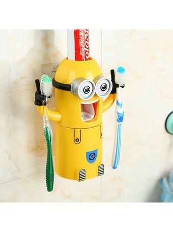 Автоматичний дозатор зубної пасти з держаками для щіток