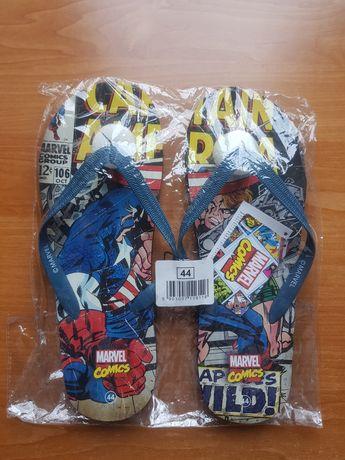 Nowe klapki japonki Marvel Captain America Kapitan Ameryka rozmiar 44