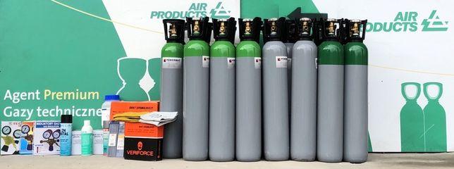 Butla 8L. Gazy techniczne: Argon, Mieszanina Ar/Co2, Co2, Tlen, Azot