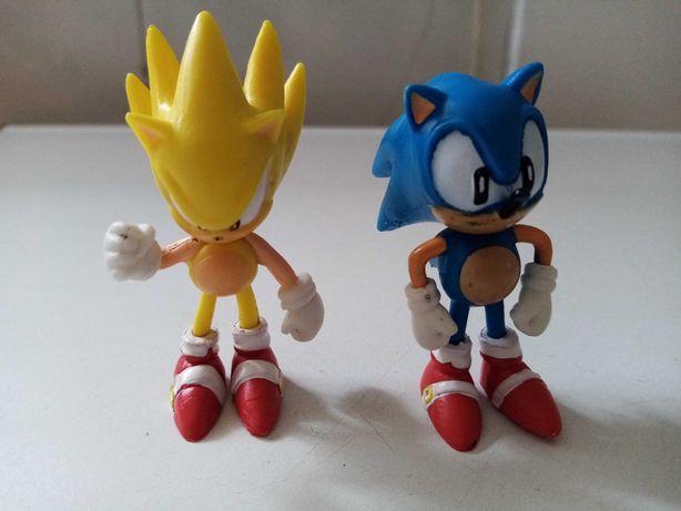 Figuras Sega Sonic e super Sonic + Jogo Knuckles