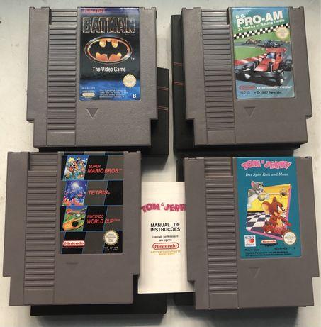 Jogos (cartuchos) antigos da Nintendo