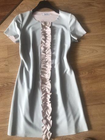 Oryginalna sukienka falbanka
