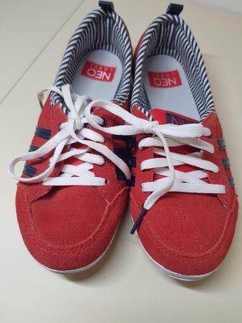 Оригинальные замшевые кроссовки Adidas neo label кеды