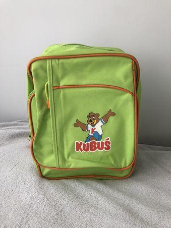Zielony plecak dziecięcy z kieszeniami Kubuś Play