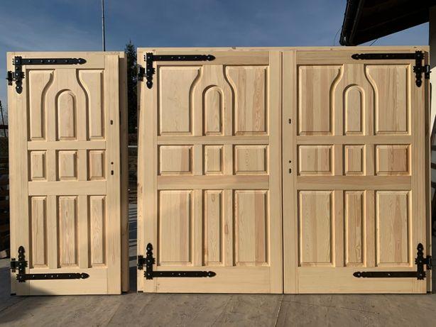 Drzwi garażowe brama zewnątrzne 100% drewniane