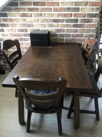 Stół drewniany + 5 krzeseł